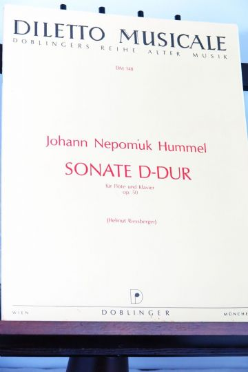 Hummel J N - Sonata in D Op 50 for Flute and Piano